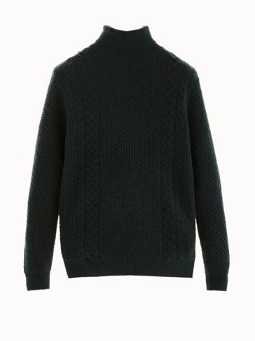Μάλλινο πουλόβερ με ψηλό γιακά