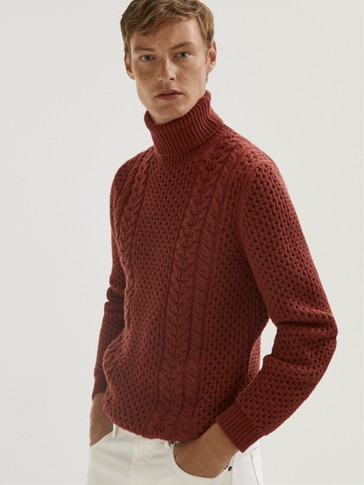 Wool high neck sweater