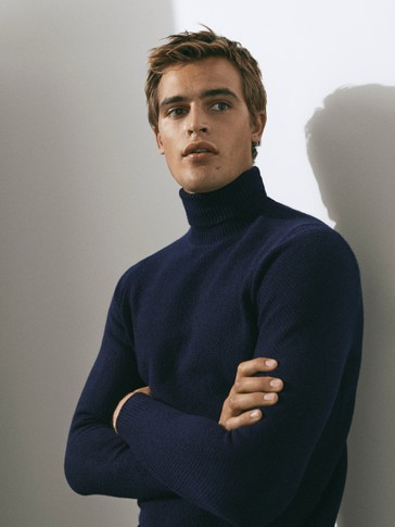 Limited Edition wool/cashmere high neck sweater