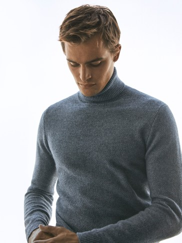 Pullover a collo alto in lana e cashmere Limited Edition