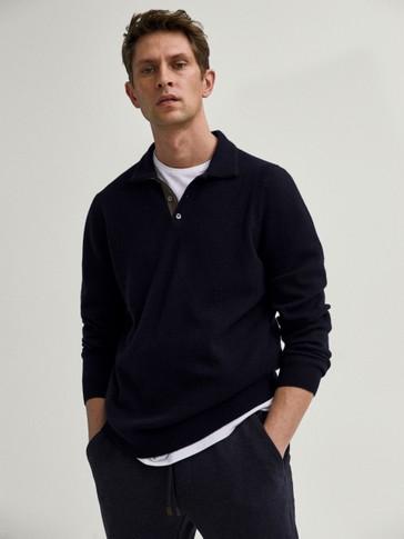 Jersey polo lana