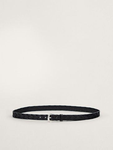 LIMITED EDITION BLACK PLAITED BELT