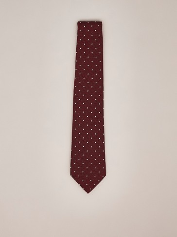 POLKA DOT COTTON SILK TIE