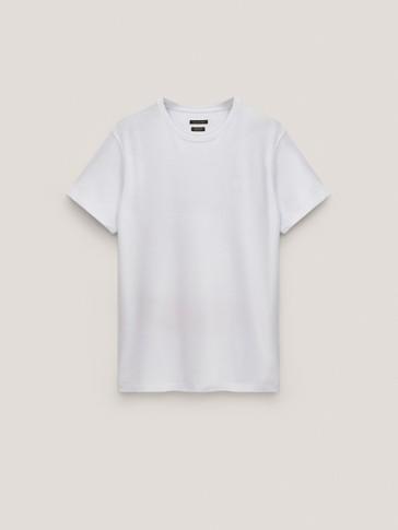 Piqué T-shirt with logo detail