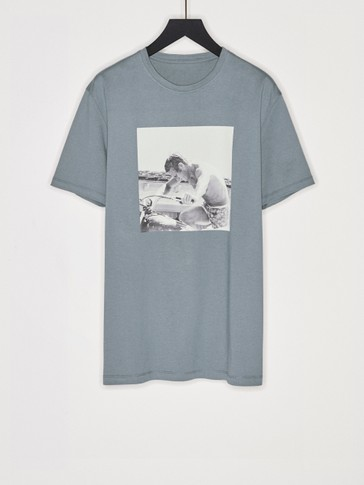 T-shirt with Steve McQueen photo