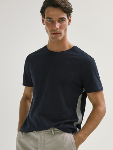 T-SHIRT WITH CONTRAST BORDER TRIM