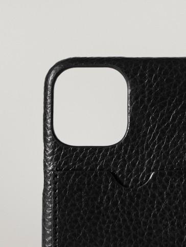 Kožené puzdro na iPhone 11 Pro so zakladačom na karty