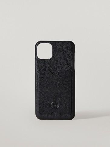 Kožené puzdro na iPhone 11 Pro Max so zakladačom na karty