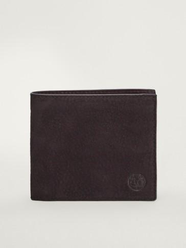 Nubuck leather wallet