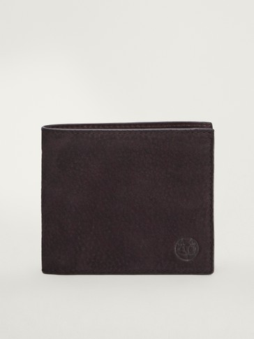 Nubuck leather wallet