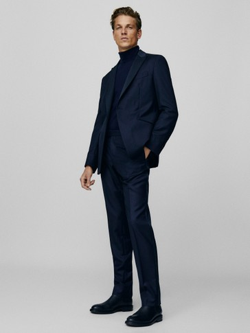 Slim fit textured tuxedo jacket