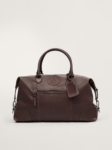 LIMITED EDITION FADED LEATHER WEEKENDER BAG