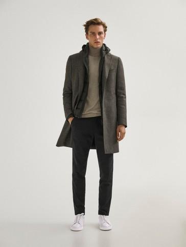 100% wool houndstooth coat
