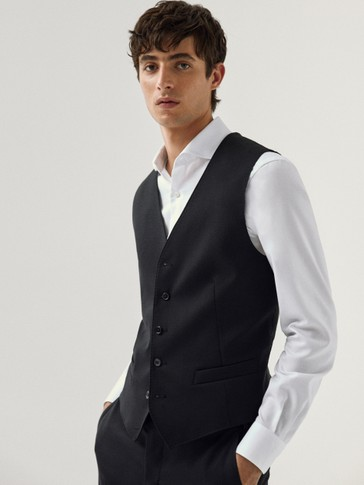 Chaleco la negro slim fit