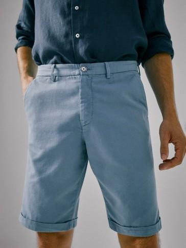 سروال برمودا ملون من القطن