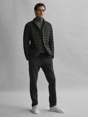 Down blazer-style jacket