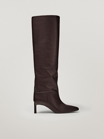 Limited edition burgundy heeled boots