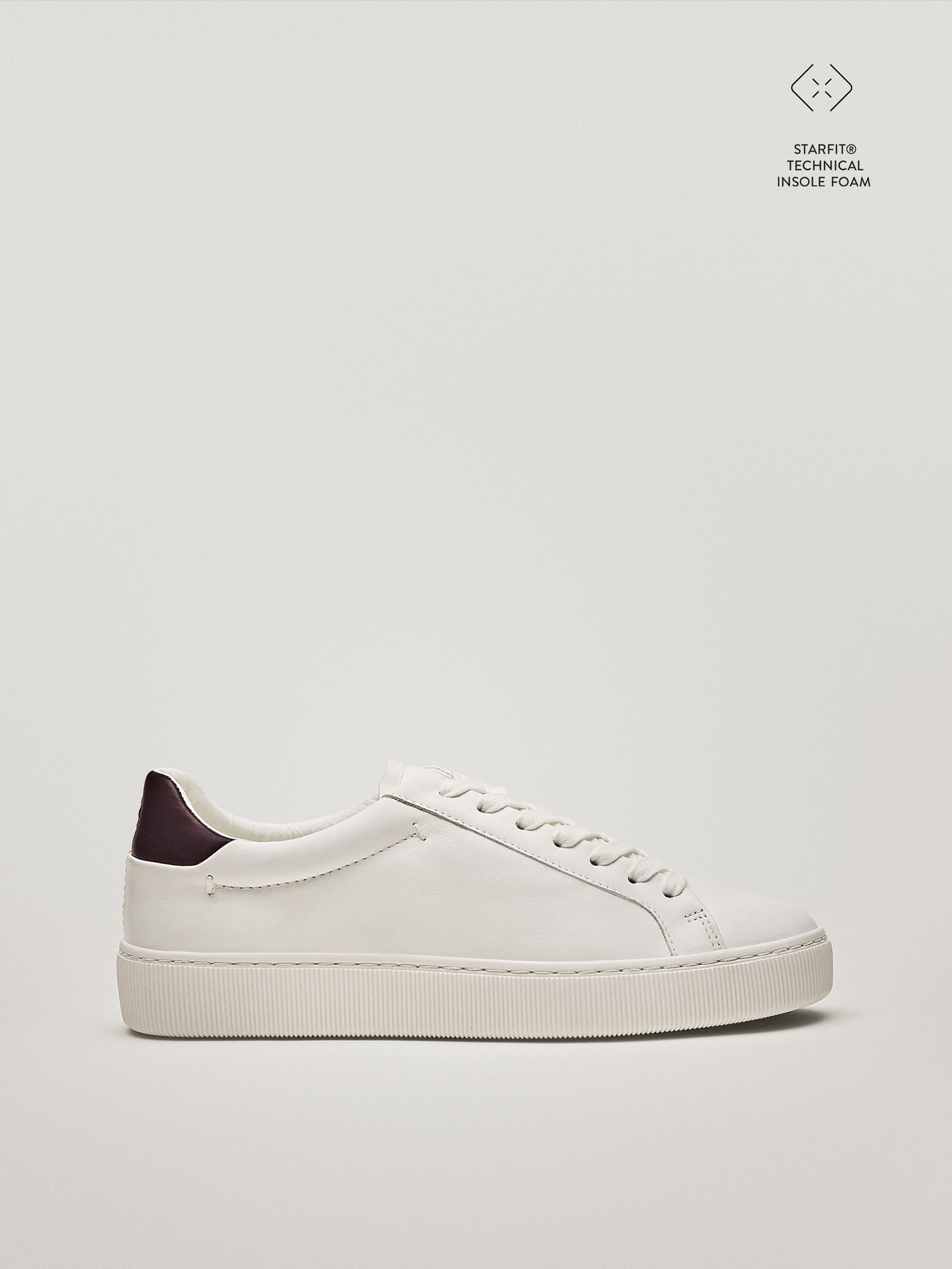 Trainers with colour heel detail
