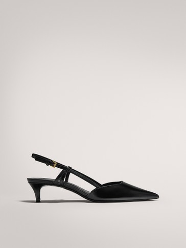MID-HEEL SLINGBACK SHOES WITH BUCKLE