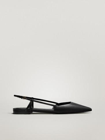 FLAT SLINGBACK SHOES WITH BUCKLE