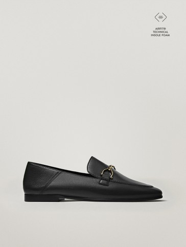 BLACK MOC TOE LOAFERS