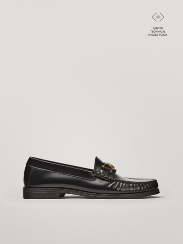 BLACK HORSEBIT LOAFERS