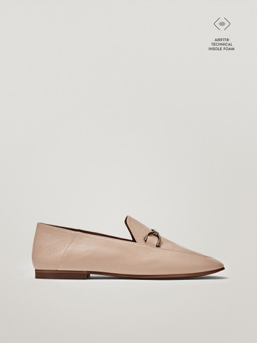 FOLD-DOWN-HEEL LOAFERS WITH HORSEBIT DETAIL