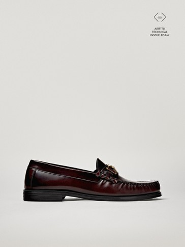 BORDEAUX LOAFERS MET HORSEBIT