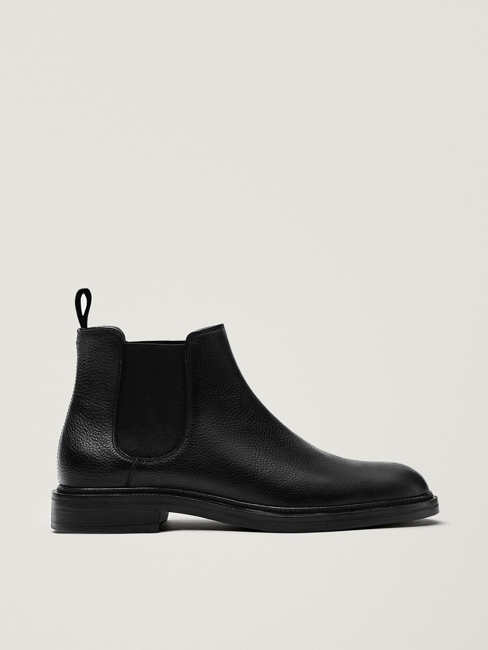 Leather sock ankle boots - null
