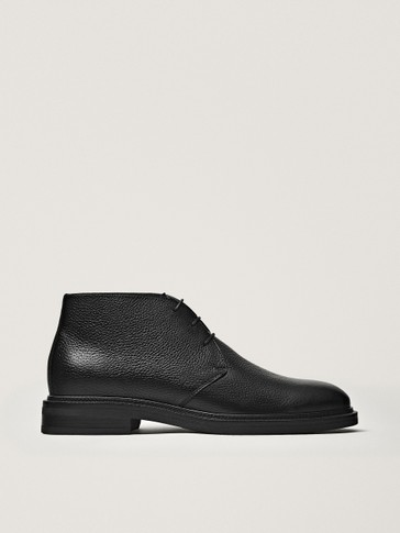 BOTTINES SAFARI NOIRES EN NAPPA