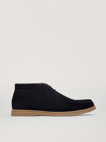 BLUE HIGH-TOP DECK SHOES