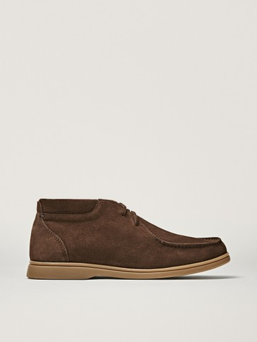 BROWN HIGH-TOP DECK SHOES