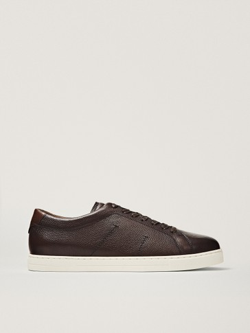 BROWN NAPPA TRAINERS