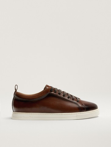 BRUSHED BROWN TRAINERS