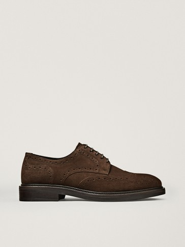 BROWN SPLIT SUEDE BROGUES