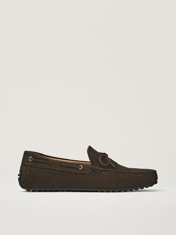 BROWN NUBUCK LOAFERS