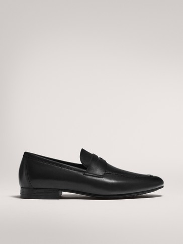 SCHWARZE LEDERMOKASSINS MIT LOAFER-DETAIL LIMITED EDITION