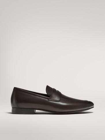 BROWN LEATHER PENNY LOAFERS LIMITED EDITION