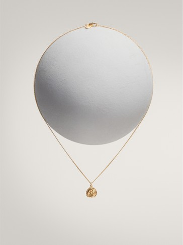 GOLD-PLATED PISCES HOROSCOPE NECKLACE