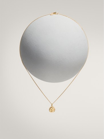 Gold-plated taurus horoscope necklace