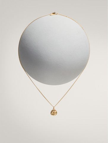 Gold-plated gemini horoscope necklace