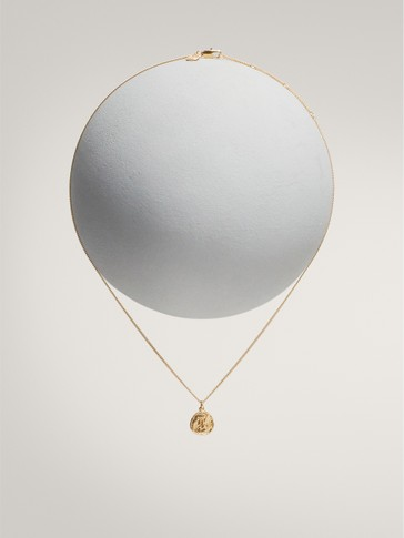 Gold-plated capricorn horoscope necklace