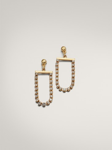 GOLD PLATED SPARKLY EARRINGS