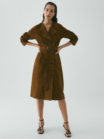 Limited Edition suede trench coat
