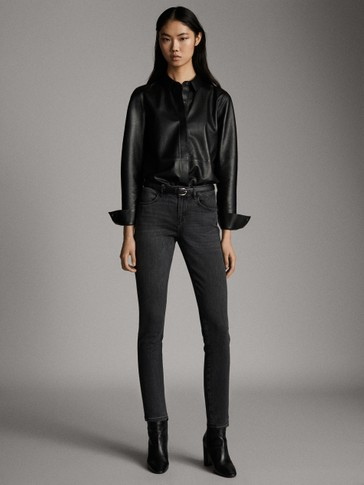 ASIAN FIT. MID-RISE SKINNY JEANS