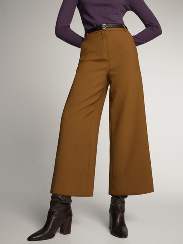 Asian fit. wide-leg trousers