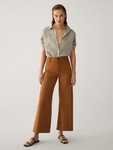 HIGH-RISE CULOTTE FIT JEANS