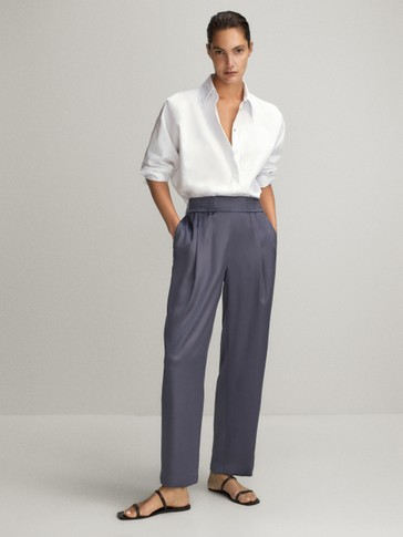 CUPRO JOGGING TROUSERS