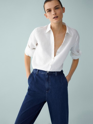 LOOSE-FITTING HIGH-RISE JEANS