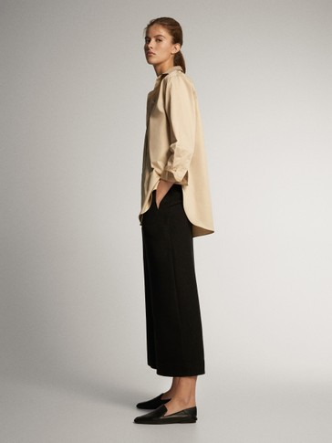ASIAN FIT. LINEN LYOCELL STRAIGHT FIT TROUSERS